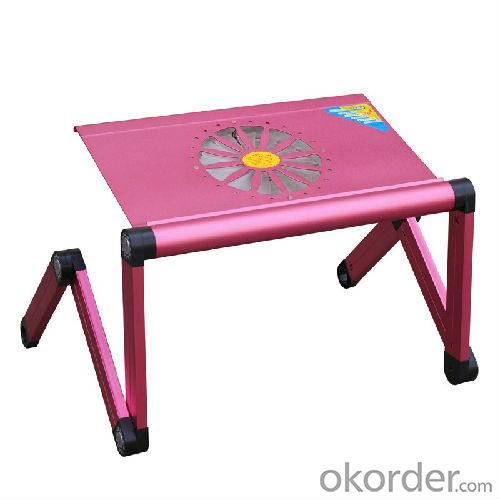 mini hot pink aluminum foldable laptop table