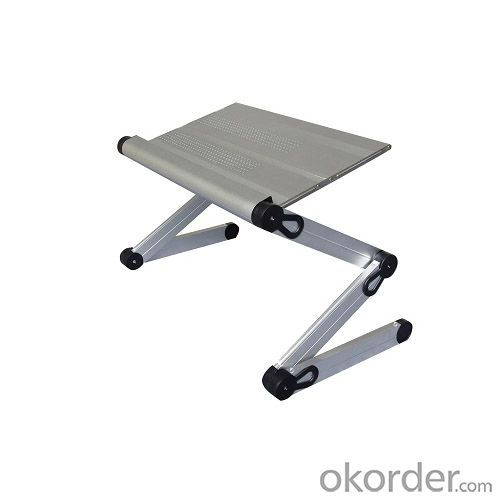 aluminum folding table for laptop and tablets