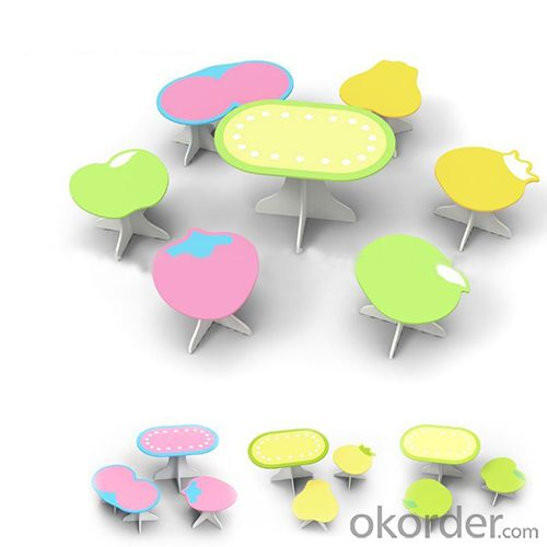 children cartoon table