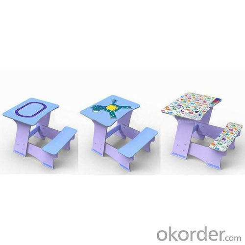 colorful pattern 1 piece study table
