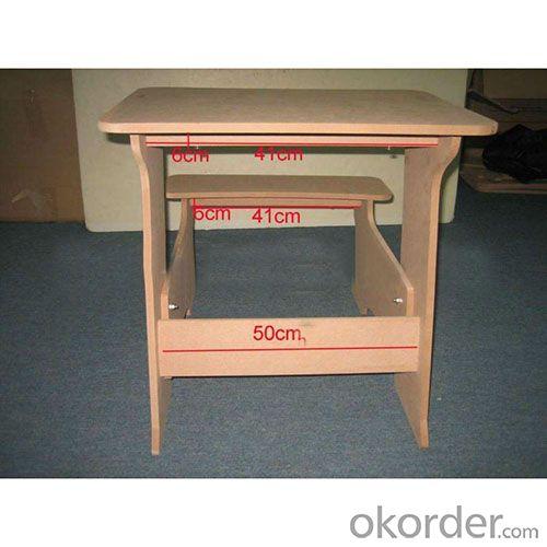 MDF board easy assemble children table, easy installation chidlren table
