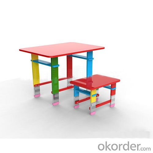 pencil design rectangle children table
