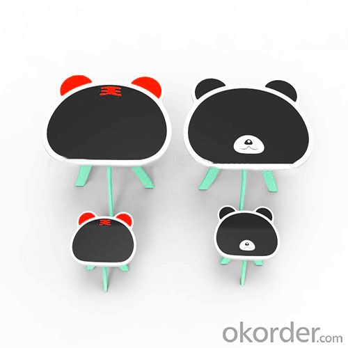 Panda Cartoon Kids Table, Tiger Pattern Cute Cartoon Children Table, MDF Children Table