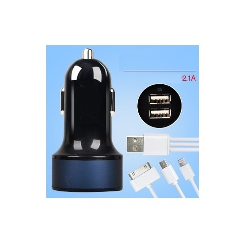 China Factory New Dual 2 Port Universal 5V USB Car Charger For iPhone 5 5s iPad 2 3 4 5 iPod eGo e Cigarette Camera GPS Black