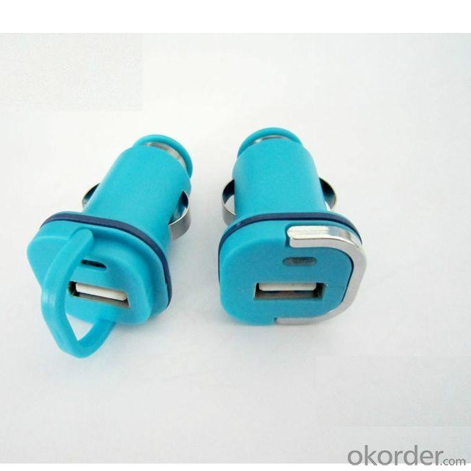 Car Charger for iPhone 5 /5s/ iPad/ iPod/ E- Cigarette with Dual USB Port in Blue against Over-heat
