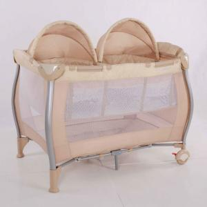 2014 New Baby Bed For Twins Beige Color With Double Locks