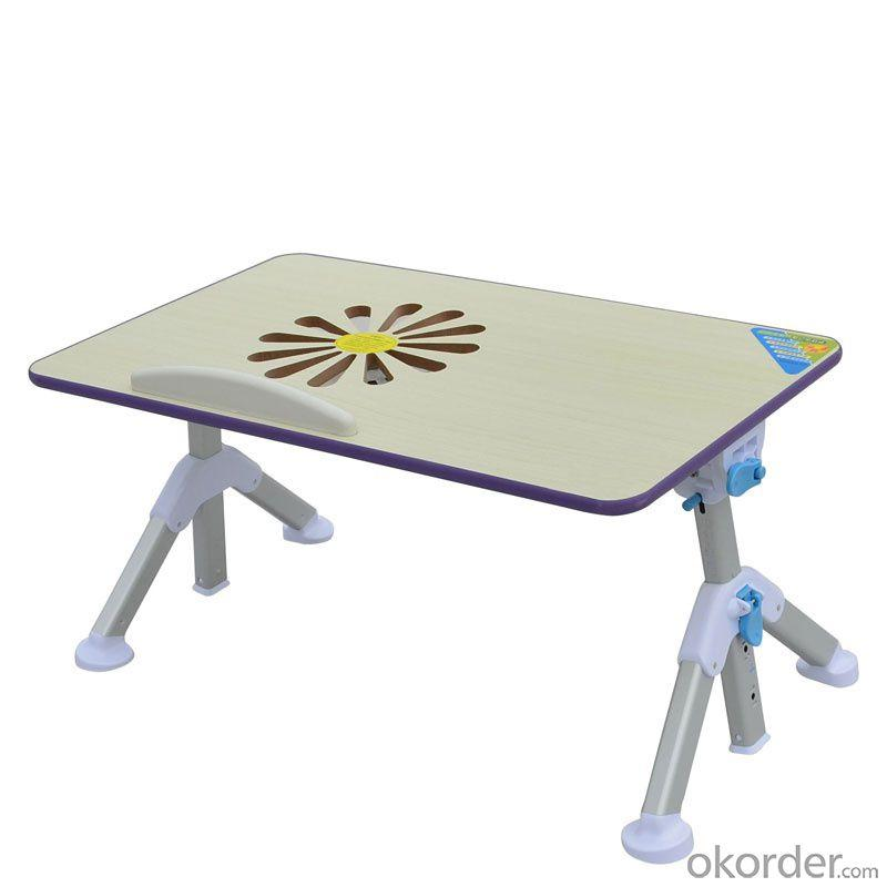 China Factory Wooden Foldable Laptop Table With Fan Height Angle Adjustable Kids Table