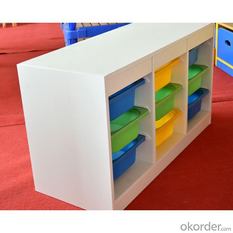 Bass Wood Kids' Cabinet with 9 Storage Creative Design Space-saving