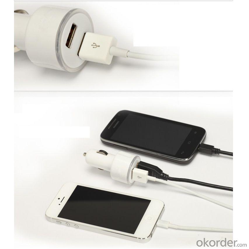 Car Charger for iPhones/Smart Phones/ipad/iTouch/MP3/MP4/E-Cigarette/Camera with Dual USB Port