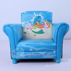Mermaid Pattern Single Sofa for Kids Environmental Fabric High Quality