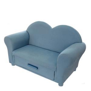 Heart Shape Children's Sofa with Storage Double Seats Multiple Color