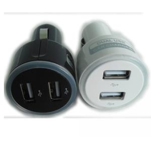 China Factory Hot Sale Dual 2 Port USB Car Charger For iPhone 5 5s iPad 2 3 4 5 iPod eGo e Cigarette Camera Aluminum Blue