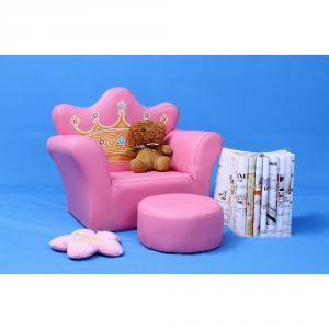 Cartoon Crown Pattern Kids' Sofa with European Style Design