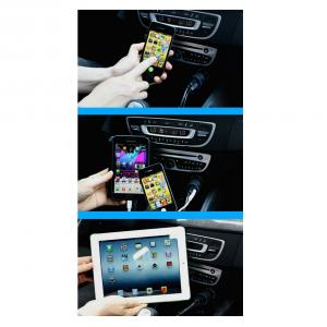 China Manufacture 5V Mini USB Car Charger With Luminous Light Ring For iPhone 5 5s iPad 2 3 4 5 iPod eGo Camera White Color