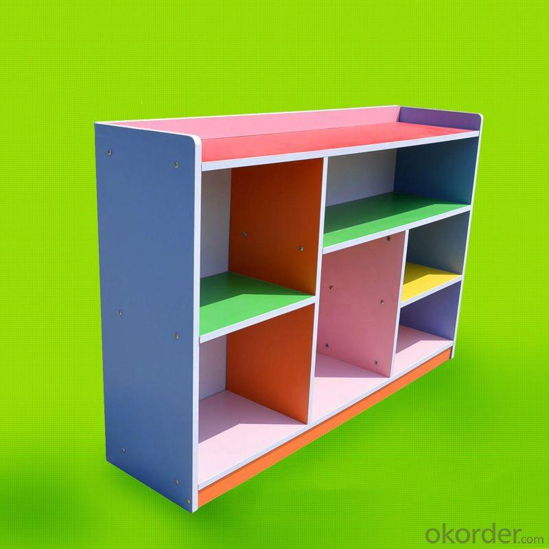 Durable Wooden Children's Cabinet Storage with Colorful Painting