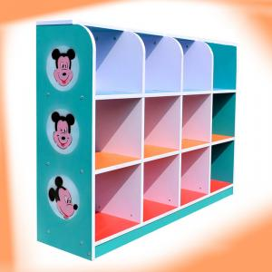 Cartoon Pattern Kids' Storage Cabinet with Non-toxic Colorful Painting