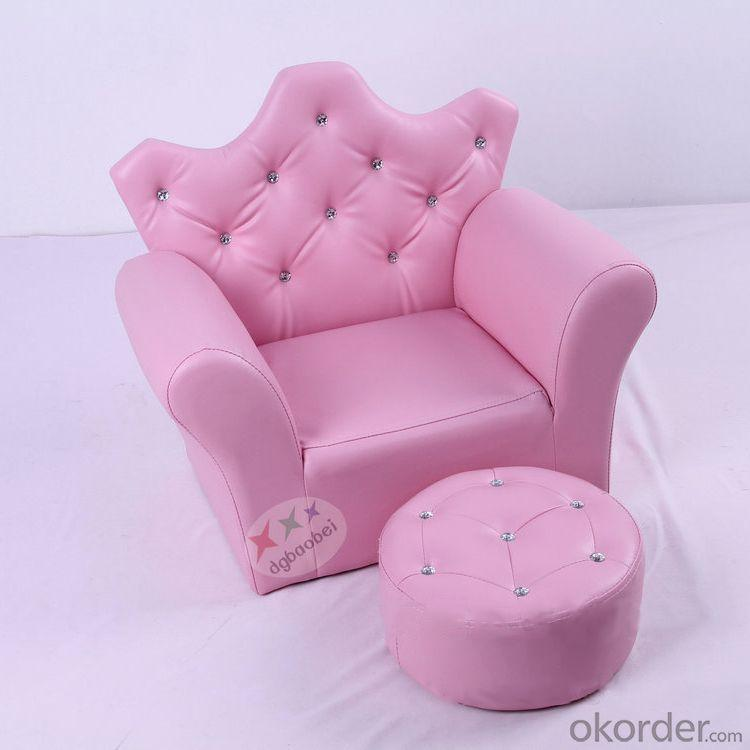 Cartoon Crown Pattern Kids' Sofa with European Style Design