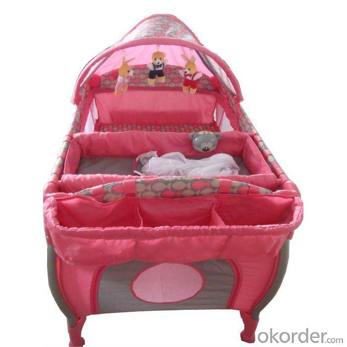 3-Part Turning Canopy With Toys Red Baby Playpen