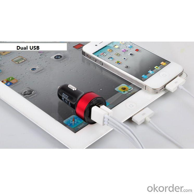 Deluxe Quality Dual 2 Port USB Car Charger For iPhone 4 4s 5 5s 5g iPad 2 3 4 5 ego e Cigarette Camera Colorful 10 Colors