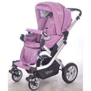 C596 Oval Frame Baby Stroller Red