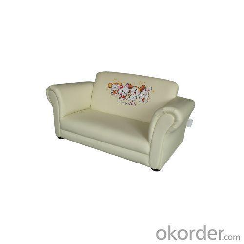 Beautiful Kids' Sofa with PU Leather Two Seats Cartoon Pattern