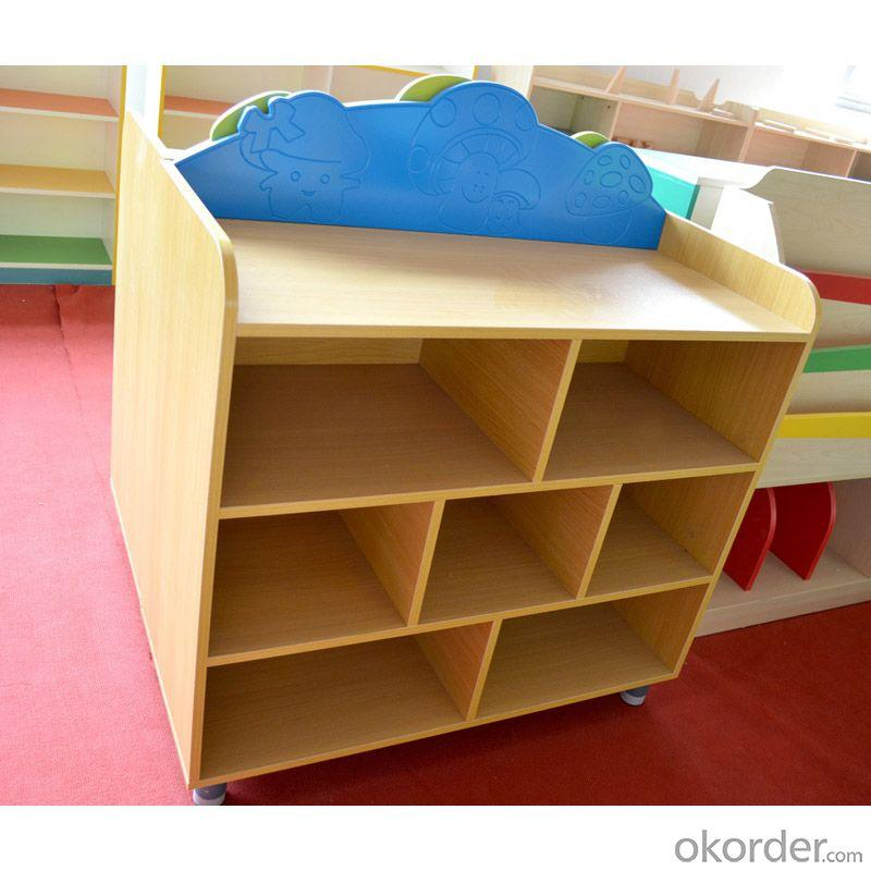 MDF Board Kids' Cabinet with Grids Stable Structure Customized Size