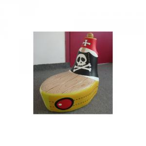 Pirate Ship Shape Kids' Sofa with Customized Size and Color