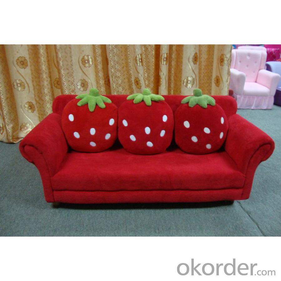 Strawberry Pattern Kids' Sofa Three Seats High-elastic Foam Bright Color