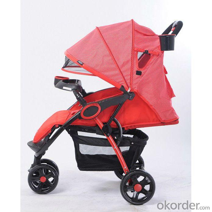 C238 Three Wheels Baby Stroller Red