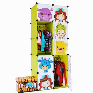 Cartoon Stylish Kids' Cabinet Used for Home and School Foldable