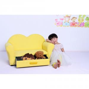 Heart Shape Children's Sofa with Storage Double Seats Multiple Color