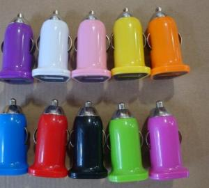 Car Charger for iPhone 5/5s/ iPad/ iPod/ Samsung/ HTC/E- Cigarette with Mini USB Port Universal