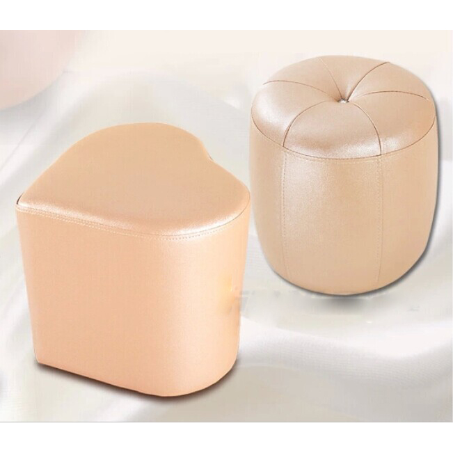 Heart Shape Leather Stool with Factory Price and High Quality