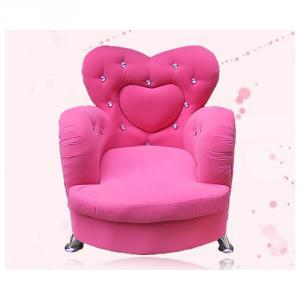 Heart Style Kids' Sofa with Eco-friendly Material Multiple Size