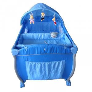 3-Part Turning Canopy With Toys Blue Baby Playpen