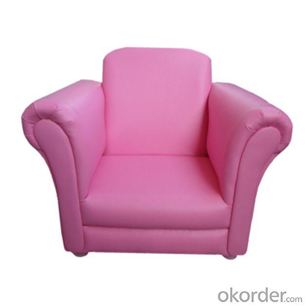 Cute Children's Leather Sofa with Ergonomic Design Bright Pink