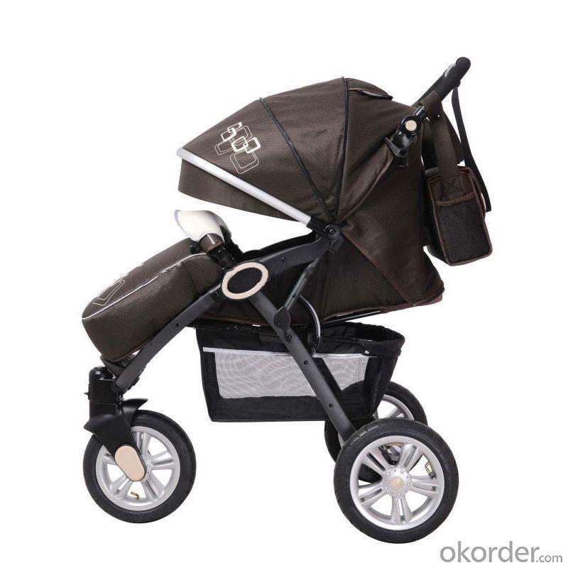 2014 Three Air Wheels Aluminum Baby Joggyer C368 Brown