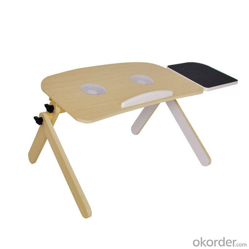 Adjustable Angle Wood Laptop Table With Fan, Adjustable Height Children Study Table, Children Desk For Study And Playing
