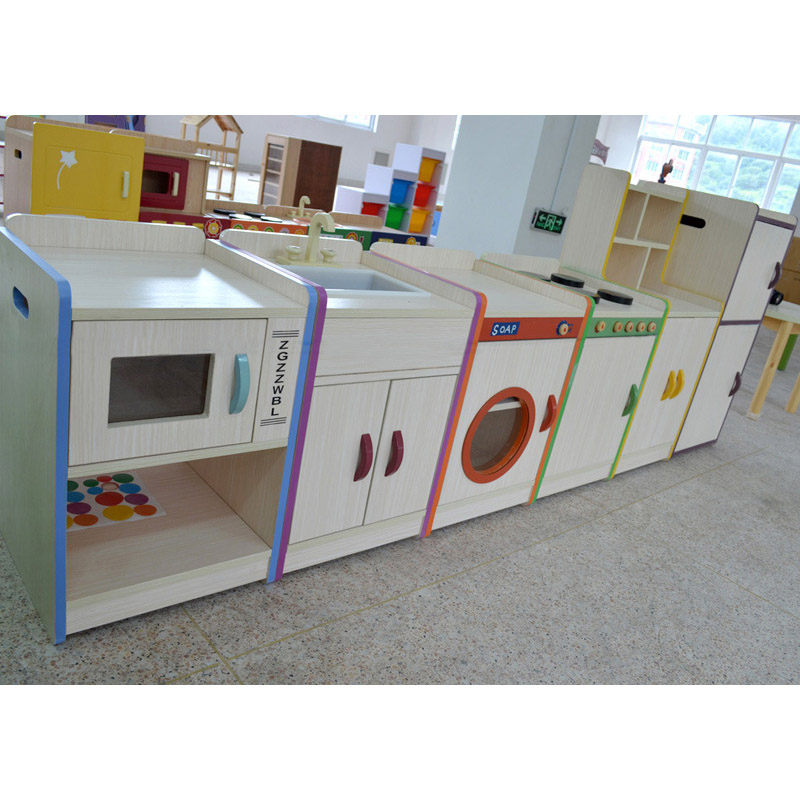 Kids' Colorful Cabinet for Storing Toy Clothes Books Creative Design