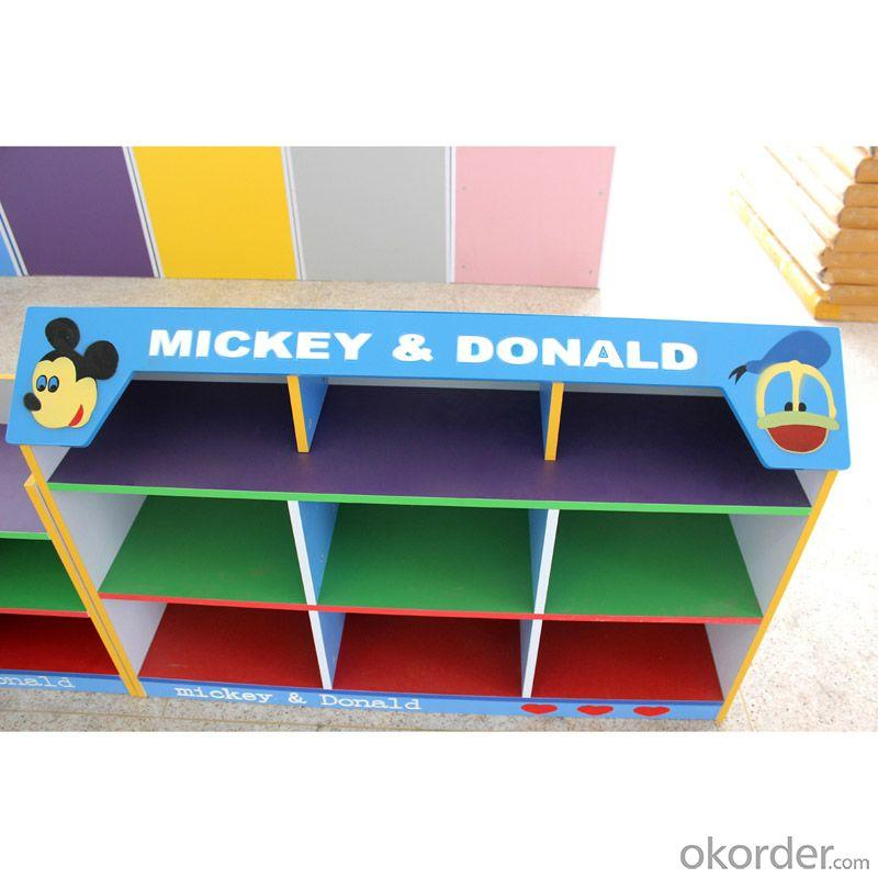 Colorful Children's Toy Cabinet Environmental Material OEM Available