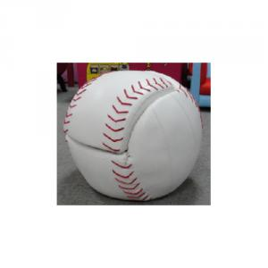 Baseball Pattern Kids' Sofa with High-elastic Foam Durable