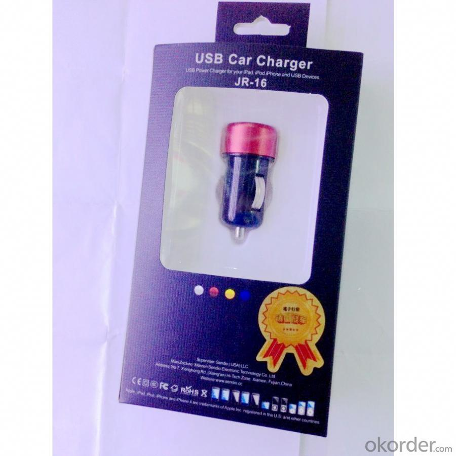 Car Charger for iPhone 5/5s/ iPad/ iPod/ Samsung/ HTC/E- Cigarette/Cigarette Lighter  with Mini Dual  USB Port