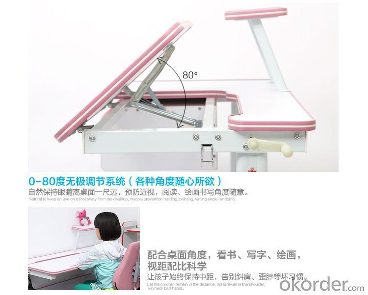New Wood Student Table, Height And Angle Adjustable School Table, Wood Children Study Table With Book Shelf