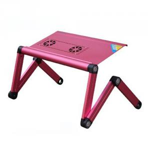 Best Price Aluminum Foldable Laptop Desk For Bed and Sofa, Healthy Children Study Lamp