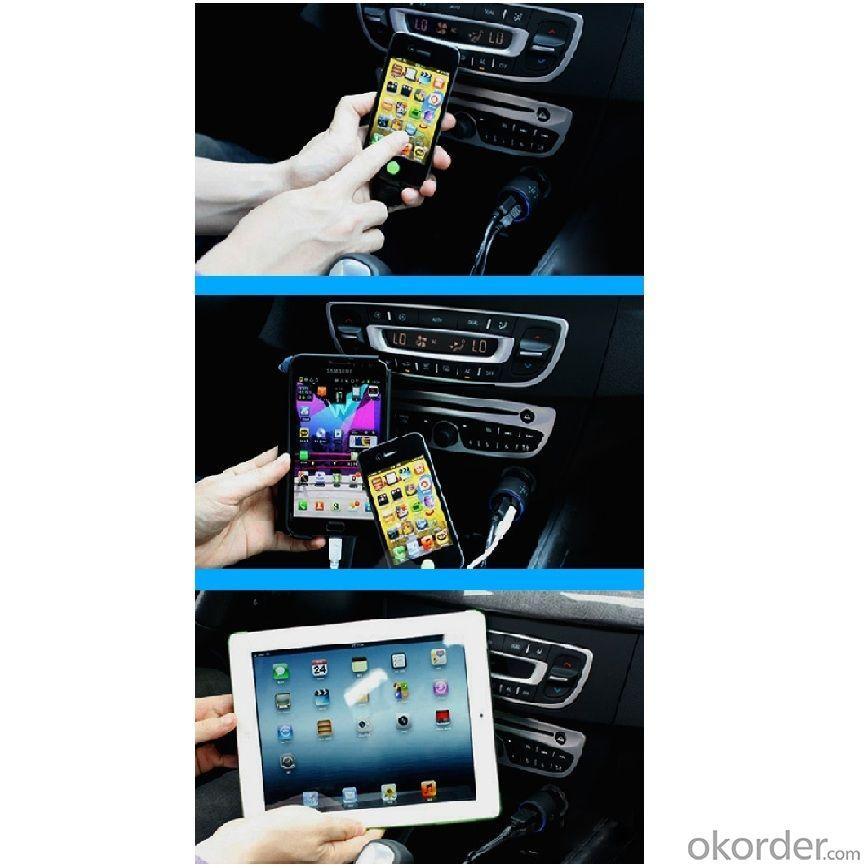 China Factory Hot Sale Dual 2 Port USB Car Charger For iPhone 5 5s iPad 2 3 4 5 iPod eGo e Cigarette Camera Aluminum Blue