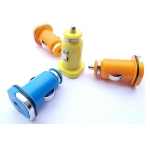 Car Charger for iPhone 5 /5s/ iPad 2/ 3/ 4/ 5/ iPod with Dual USB Port in Orange against Over-heat