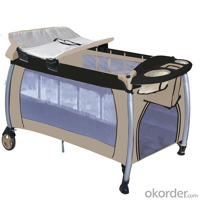 Europe Playpen With Double Layer -Khaki Brown