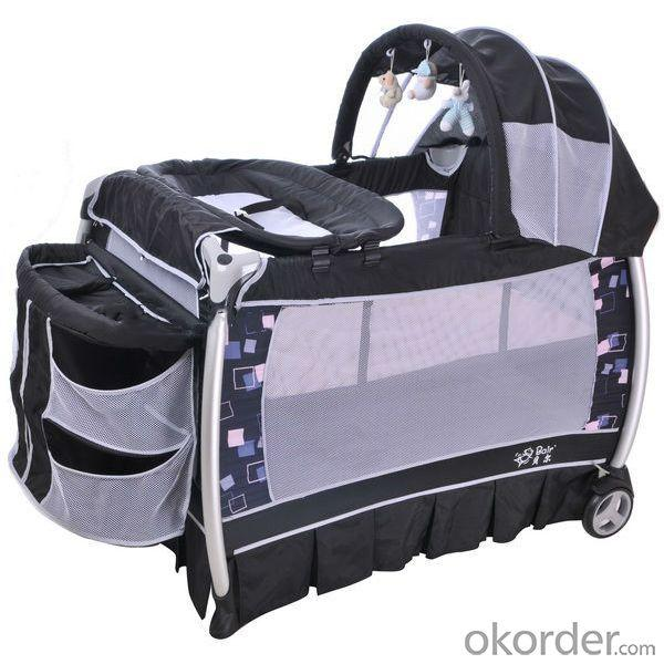 Europe Playpen With Double Layer -Khaki Black