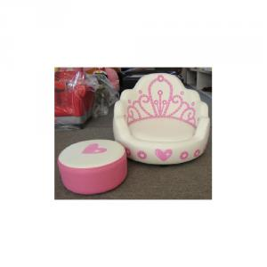 Princess Style Kids' Sofa Filled with High-elastic Foam Comfortable