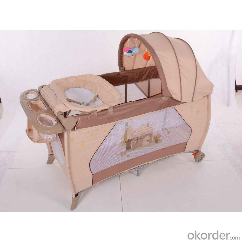 2014 Baby Playpen/ Travel Cot / Play Yard With Full Function Pf Pink